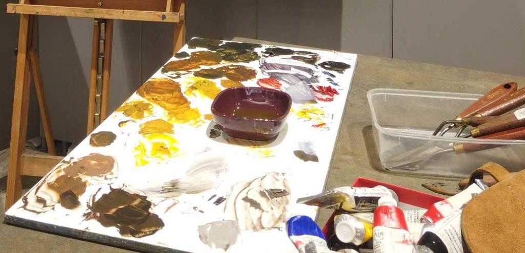 Les mediums en peinture a l'huile